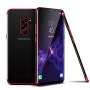 TPU Hülle für Samsung Galaxy J7 2017 Case Silikon Cover Transparent mit Farbrand Handyhülle