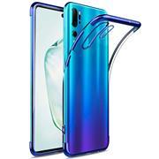 TPU Hülle für Samsung Galaxy Note 10 Case Silikon Cover Transparent mit Farbrand Handyhülle