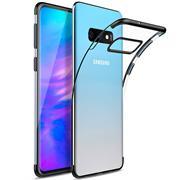 TPU Hülle für Samsung Galaxy S10e Case Silikon Cover Transparent mit Farbrand Handyhülle