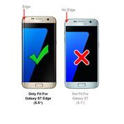 TPU Hülle für Samsung Galaxy S7 Edge Case Silikon Cover Transparent mit Farbrand Handyhülle