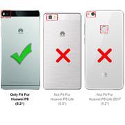 Schutzhülle für Huawei P8 Hülle Transparent Slim Cover Clear Case