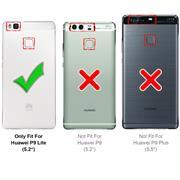 Schutzhülle für Huawei P9 Lite Hülle Transparent Slim Cover Clear Case