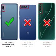 Schutzhülle für Huawei Y6 2019 Hülle Transparent Slim Cover Clear Case