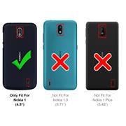 Transparente Schutzhülle für Nokia 1 Backcover Ultra-Clear Case