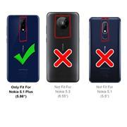 Schutzhülle für Nokia 5.1 Plus Hülle Transparent Slim Cover Clear Case