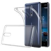Schutzhülle für Nokia 8 Hülle Silikon Backcover Ultra-Clear Case im transparenten Design
