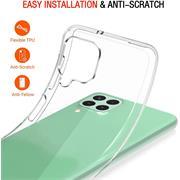 Schutzhülle für Samsung Galaxy A22 4G / M22 Hülle Transparent Slim Cover Clear Case