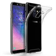 Schutzhülle für Samsung Galaxy A6 Plus Hülle Silikon Backcover Ultra-Clear Case im transparenten Design