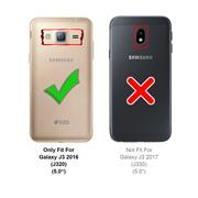 Schutzhülle für Samsung Galaxy J3 2016 Hülle Transparent Slim Cover Clear Case