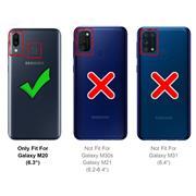 Schutzhülle für Samsung Galaxy M20 Hülle Transparent Slim Cover Clear Case