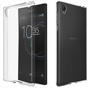Schutzhülle für Sony Xperia L1 Hülle Silikon Backcover Ultra-Clear Case im transparenten Design in Transparent