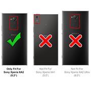 Schutzhülle für Sony Xperia XA2 Hülle Transparent Slim Cover Clear Case