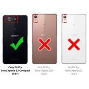 Schutzhülle für Sony Xperia Z3 Compact Hülle Transparent Slim Cover Clear Case