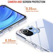 Schutzhülle für Xiaomi Mi 11 Lite Hülle 4G / 5G Transparent Slim Cover Clear Case