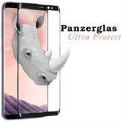 3D Curved Fullscreen Glasfolie für Samsung Galaxy S8 Plus Plus Schutzfolie gewölbt Glas Folie