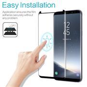 Full Glue Fullscreen Glasfolie für Samsung Galaxy S9 Schutzfolie gewölbt Glas Folie in Schwarz