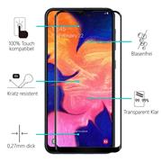 Full Screen Panzerglas für Samsung Galaxy A10 Schutzfolie Glas Vollbild Panzerfolie