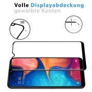 Full Screen Panzerglas für Samsung Galaxy A12 Schutzfolie Glas Vollbild Panzerfolie