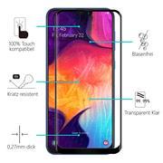 Full Screen Panzerglas für Samsung Galaxy A50 A30s Schutzfolie Glas Vollbild Panzerfolie