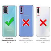 Full Screen Panzerglas für Samsung Galaxy A71 Schutzfolie Glas Vollbild Panzerfolie