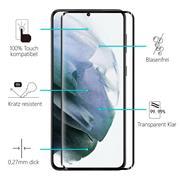 Full Screen Panzerglas für Samsung Galaxy S21 Plus Schutzfolie Glas Vollbild Panzerfolie