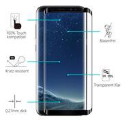 Full Screen Panzerglas für Samsung Galaxy S8 Schutzfolie Glas Vollbild Panzerfolie