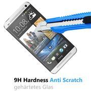 Panzerglas für HTC One M7 Schutzfolie Glasfolie 9H Ultra Clear Glas Folie