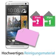 Panzerglas für HTC One M7 Glasfolie Displayschutz Folie Glas Hartglas Anti Fingerprint