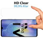Glasfolie für Huawei Mate 20 Schutzfolie Panzer Scheibe Folie Display Schutzglas 9H