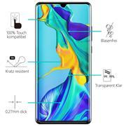 Glasfolie für Huawei P30 Pro Schutzfolie Panzer Scheibe Folie Display Schutzglas 9H