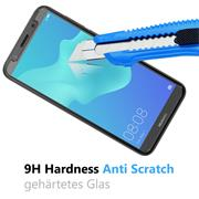 Panzer Glas Folie für Huawei Y5 2018 Schutz Folie 9H Echtglas