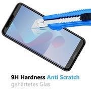 Glasfolie für Huawei Y6 2018 Schutzfolie Panzer Scheibe Folie Display Schutzglas 9H