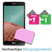 Panzer Glas Folie für LG Bello 2 Handy Schutz Folie 9H Echtglas