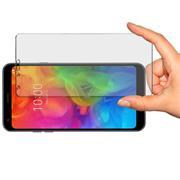 Panzer Glas Folie für LG Q7+ Handy Handy Schutz Folie 9H Echtglas