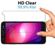 Panzer Glas Folie für LG X Power 2 Handy Schutz Folie 9H Echtglas