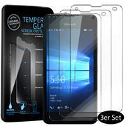 Panzerglas für Microsoft Lumia 550 Schutzfolie Glasfolie 9H Ultra Clear Glas Folie