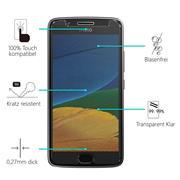 Glasfolie für Motorola Moto G5 Schutzfolie Panzer Scheibe Folie Display Schutzglas