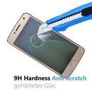 Glasfolie für Motorola Moto G5 Plus Schutzfolie Panzer Scheibe Folie Display Schutzglas