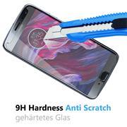 Glasfolie für Motorola Moto X4 Schutzfolie Panzer Scheibe Folie Display Schutzglas