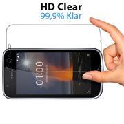 Panzerglas für Nokia 1 Schutzfolie Glasfolie 9H Ultra Clear Glas Folie