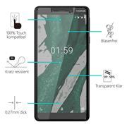 Glasfolie für Nokia 1 Plus Schutzfolie Panzer Scheibe Folie Display Schutzglas 9H