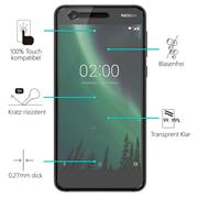 Panzerglas für Nokia 2 Schutzfolie Glasfolie 9H Ultra Clear Glas Folie