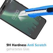 Panzer Glas Folie für Nokia 2 Handy Schutz Folie 9H Echtglas