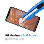 Glasfolie für Nokia 3.1 Plus Schutzfolie Panzer Scheibe Folie Display Schutzglas 9H