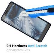 Panzer Glas Folie für Nokia 5.1 Handy Schutz Folie 9H Echtglas