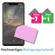 Glasfolie für Nokia 6.1 Schutzfolie Panzer Scheibe Folie Display Schutzglas 9H