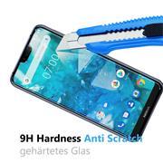 Glasfolie für Nokia 7.1 Schutzfolie Panzer Scheibe Folie Display Schutzglas 9H