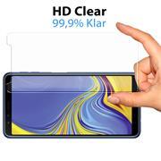 Glasfolie für Samsung Galaxy A7 (2018) Schutzfolie Panzerglas Scheibe Folie Display Schutzglas