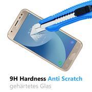 Panzer Glas Folie für Samsung Galaxy J3 2017 Schutz Folie 9H Echtglas
