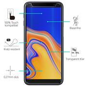 Glasfolie für Samsung Galaxy J4 Plus Schutzfolie Panzerglas Scheibe Folie Display Schutzglas